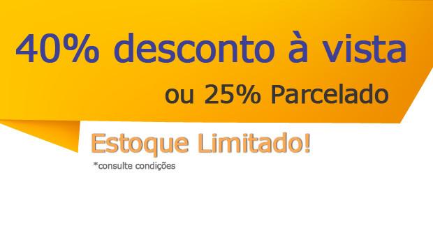 40% de desconto à vista ou 25% parcelado no cartão em 12x. Frete Grátis para todo o Brasil, Confira!