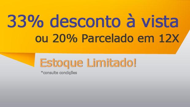 33% de desconto à vista ou 20% parcelado no cartão em 12x. Frete Grátis para todo o Brasil, Confira!