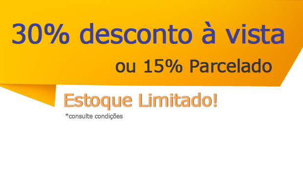 30% de desconto à vista ou 15% parcelado no cartão em 12x. Frete Grátis para todo o Brasil, Confira!